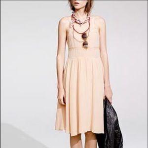 Madewell BOho peach dress w/pockets